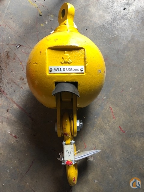 RopeBlock RopeBlock 8 Ton Overhaul Ball Overhaul Hook Balls Crane Part for Sale in Fort Pierce Florida on CraneNetwork.com