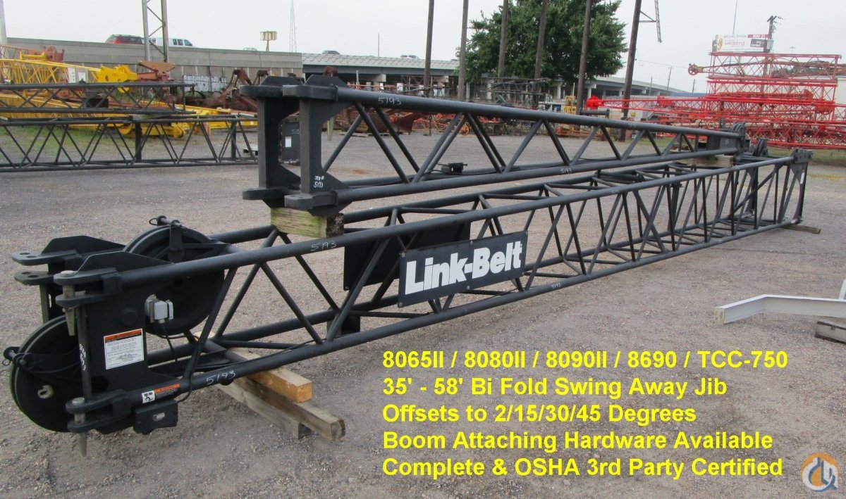 Link-Belt FLY JIB - 8065 II Jib Sections  Components Crane Part for Sale in Houston Texas on CraneNetworkcom