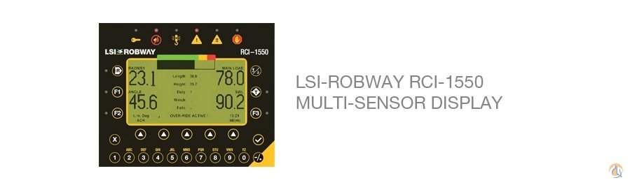 Load Systems International LSI RCI-1550 Multi Sensor Display Miscellaneous Parts Crane Part for Sale on CraneNetwork.com