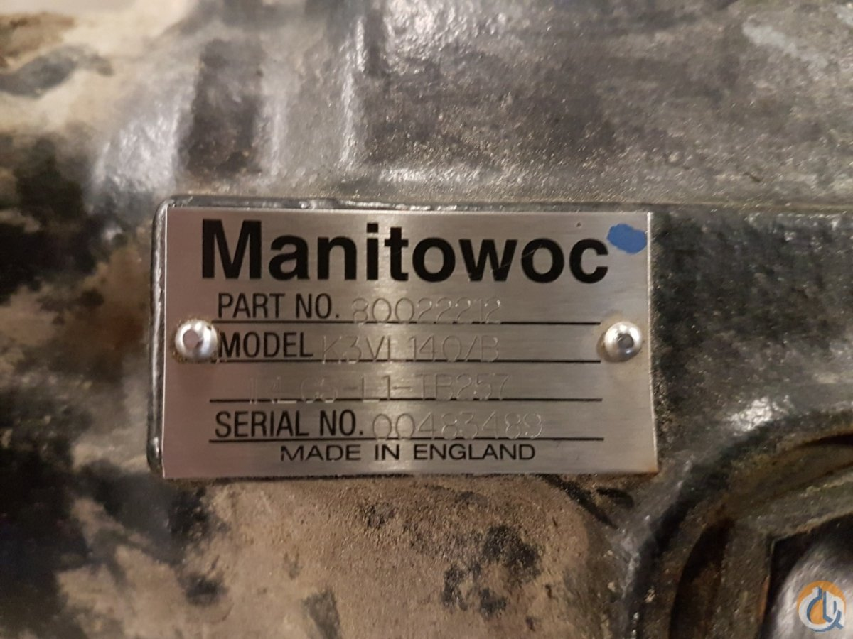 Manitowoc Manitowoc Hydraulic pump Hydraulic System Components Crane Part for Sale on CraneNetwork.com