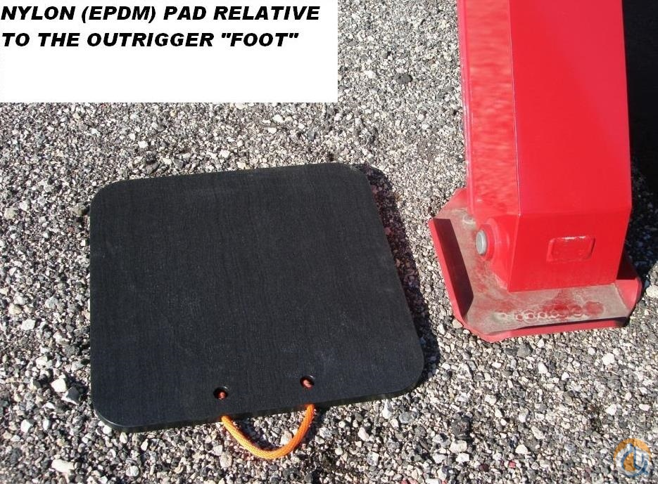 Various Manufacturers 4 Nylon EPDM Outrigger Pads Outrigger Mats Pads and Cribbing Crane Part for Sale in Milwaukee Wisconsin on CraneNetwork.com