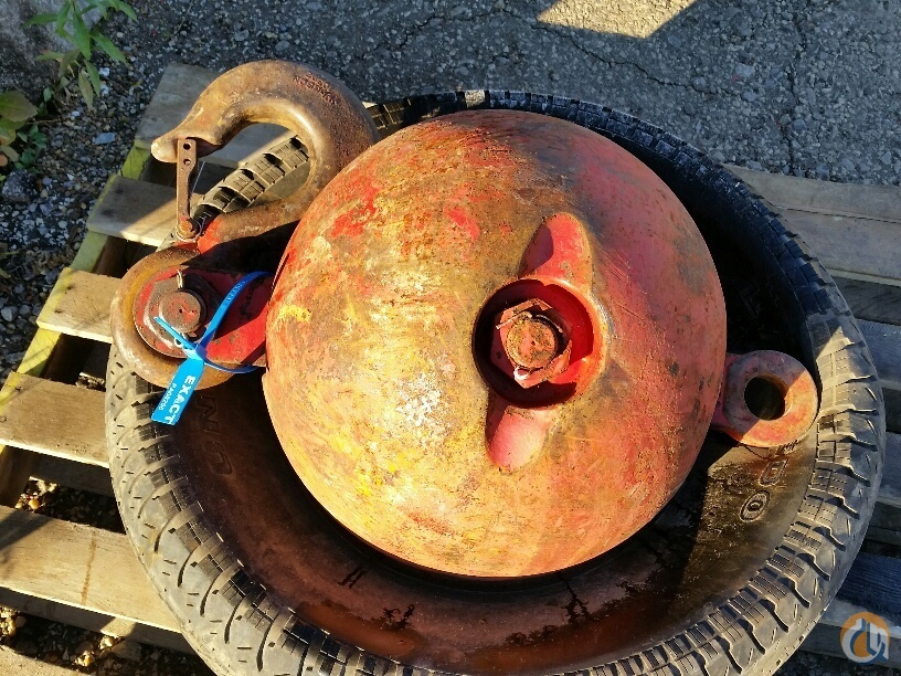 Johnson Johnson Headache Ball 12 ton capacity 722 lbs Overhaul Hook Balls Crane Part for Sale in Cleveland Ohio on CraneNetwork.com