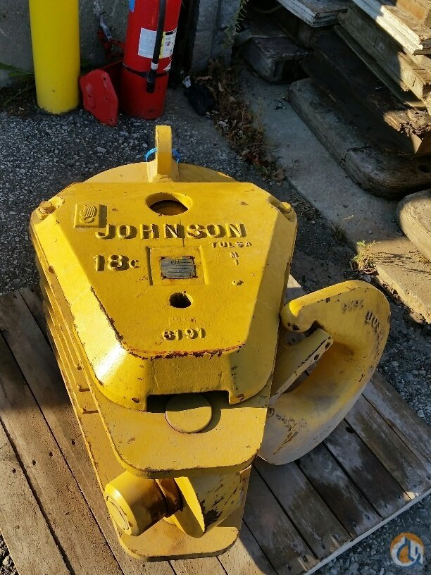 Johnson Johnson Hook Block 60 ton 1288 lbs 4 sheave 34 rope Hook Block Crane Part for Sale in Cleveland Ohio on CraneNetwork.com