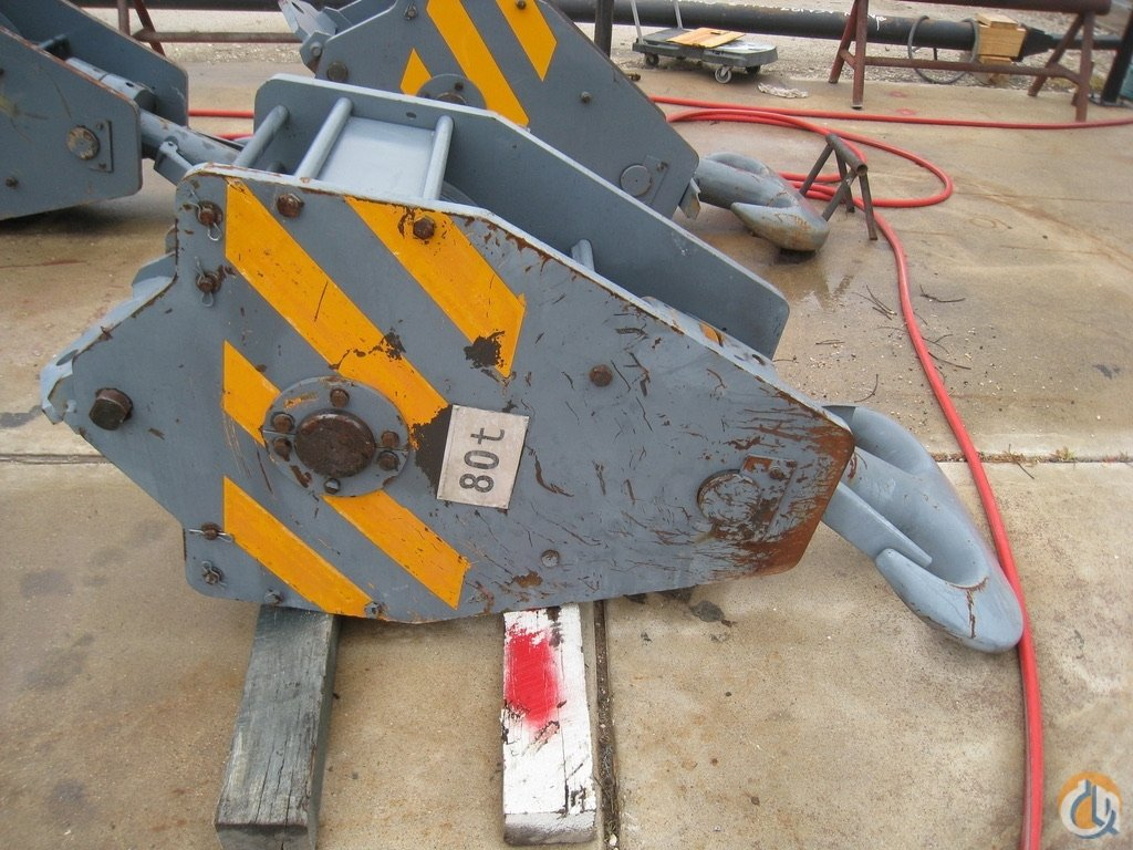 Sany Sany SCC800C 80 ton 6 Sheave Hook Block Hook Block Crane Part for Sale in Houston Texas on CraneNetwork.com