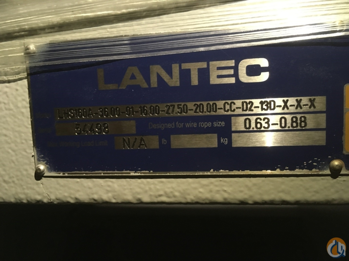 Other Lantec LHS160A Winch Winches & Drums Crane Part for Sale in