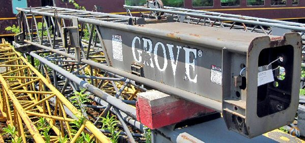 Grove 2-165-900655 - Grove tele swingaway - base section Jib Sections  Components Crane Part for Sale in Cleveland Ohio on CraneNetwork.com