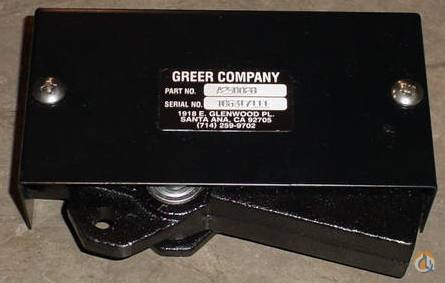 Greer Products ANTI-TWO BLOCK SWITCHES Greer Products Crane Part for Sale in New York New York on CraneNetwork.com