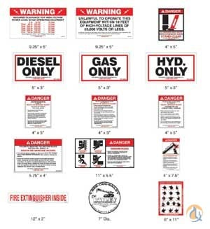 Various Manufacturers Mobile Crane Warning Decal Kits Crane Safety Decal Kits Crane Part for Sale on CraneNetwork.com