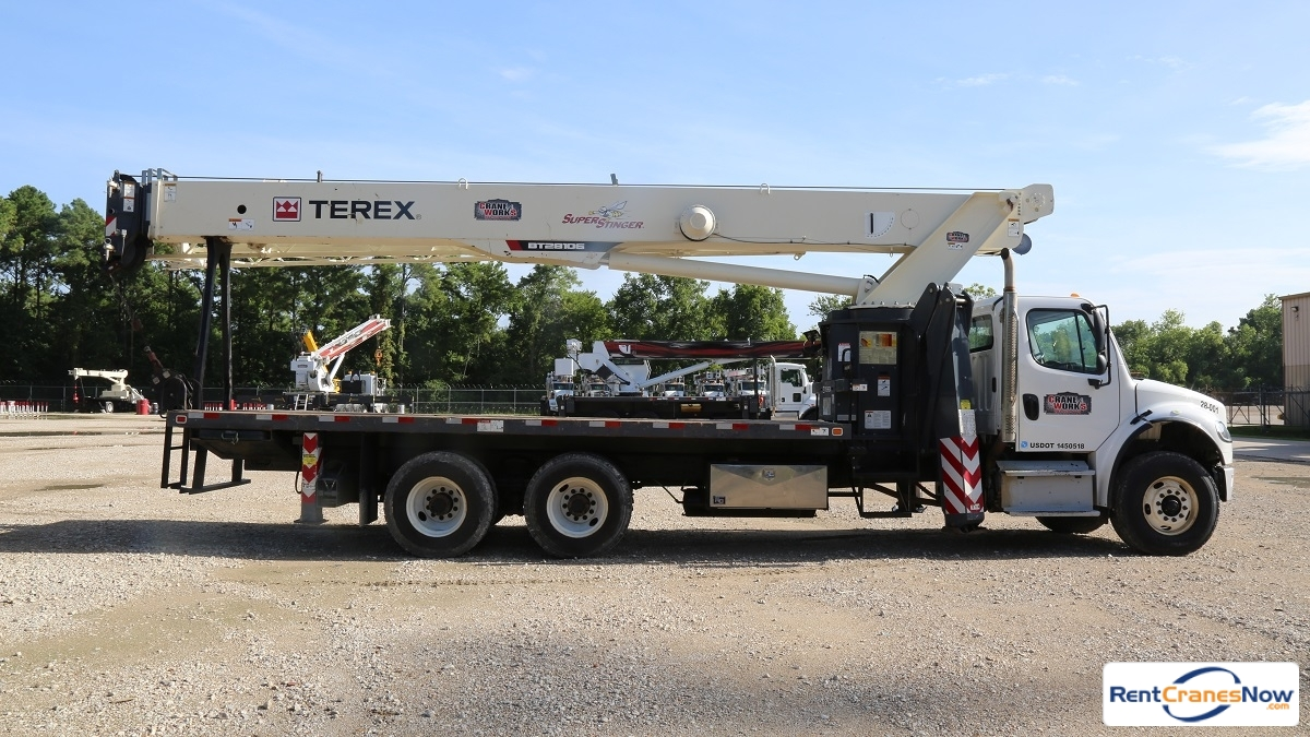 Terex BT 28106 mounted to Freightliner M2 106 chassis Crane for Rent in Houston Texas on CraneNetworkcom