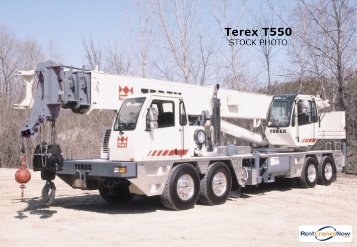 60-Ton Terex T550 Crane for Rent in Charlotte North Carolina on CraneNetwork.com