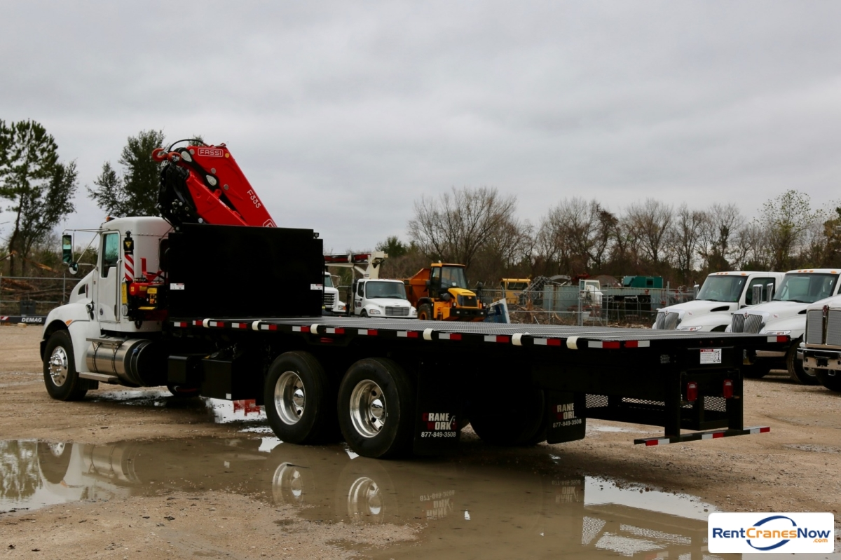 2018 Fassi F335A.2.24 e-dynamic knuckle boom crane mounted to Kenworth T370 chassis Crane for Rent in Houston Texas on CraneNetwork.com