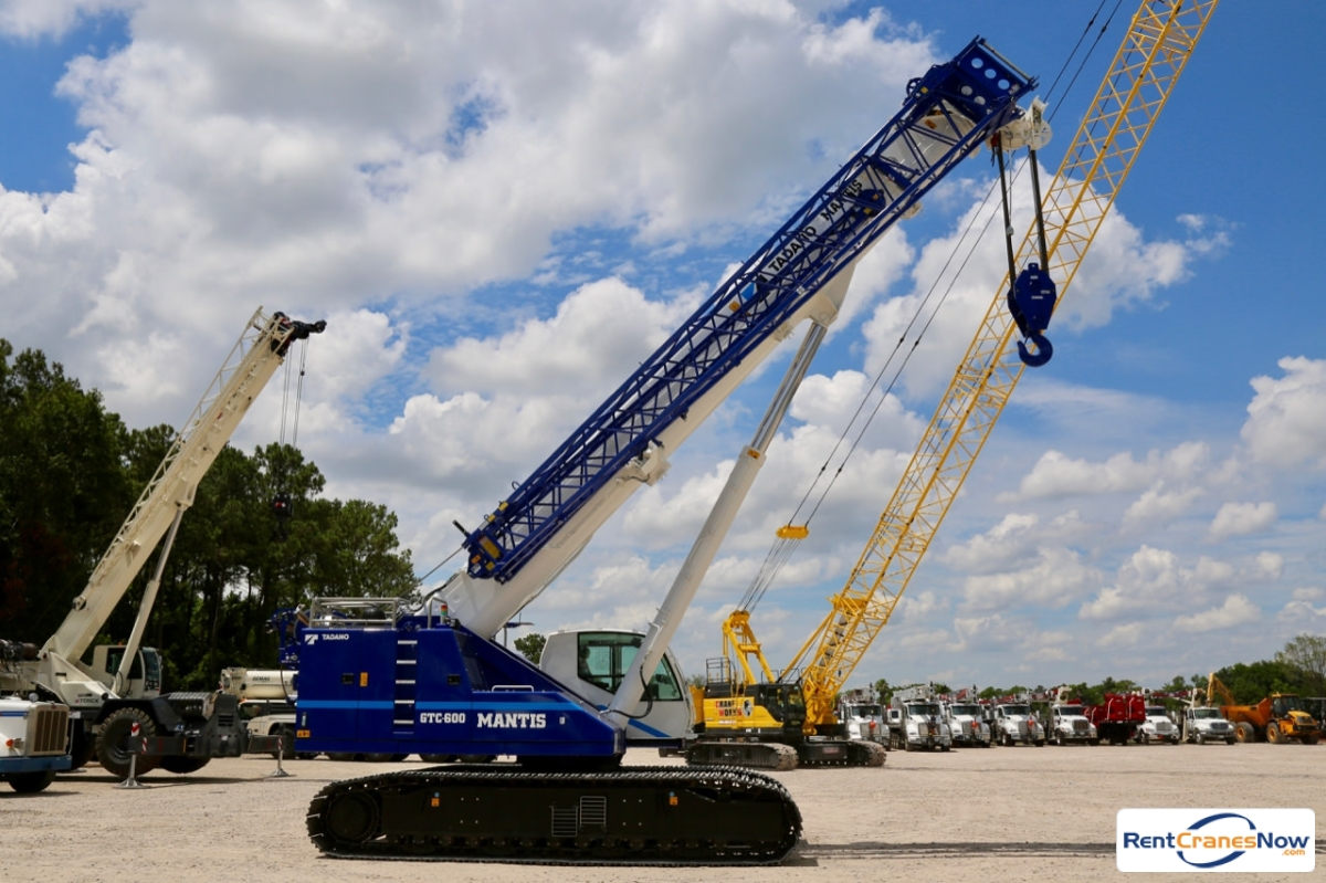 2019 Tadano Mantis GTC-600 telescopic boom crawler crane Crane for Rent in Houston Texas on CraneNetwork.com