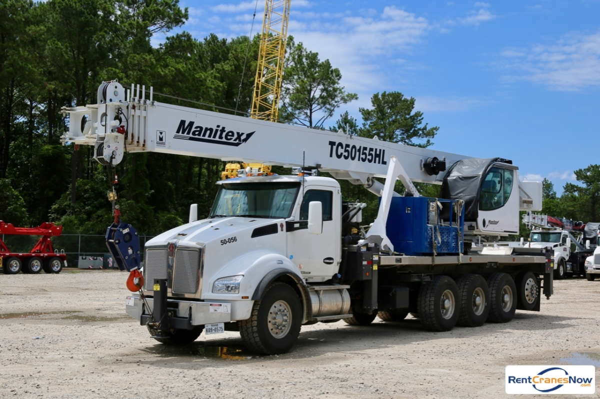 2018 Manitex TC50155HL mounted to Kenworth T880 chassis Crane for Rent in Houston Texas on CraneNetwork.com