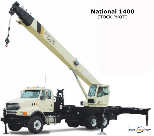 33-Ton National 1400 Boom Truck Crane for Rent in Charlotte North Carolina on CraneNetwork.com