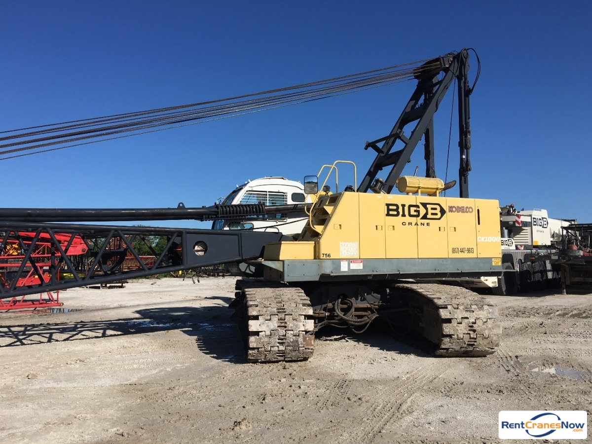 2002 Kobelco CK1000-II 100 Ton Crawler Crane for Rent in Burleson Texas on CraneNetworkcom