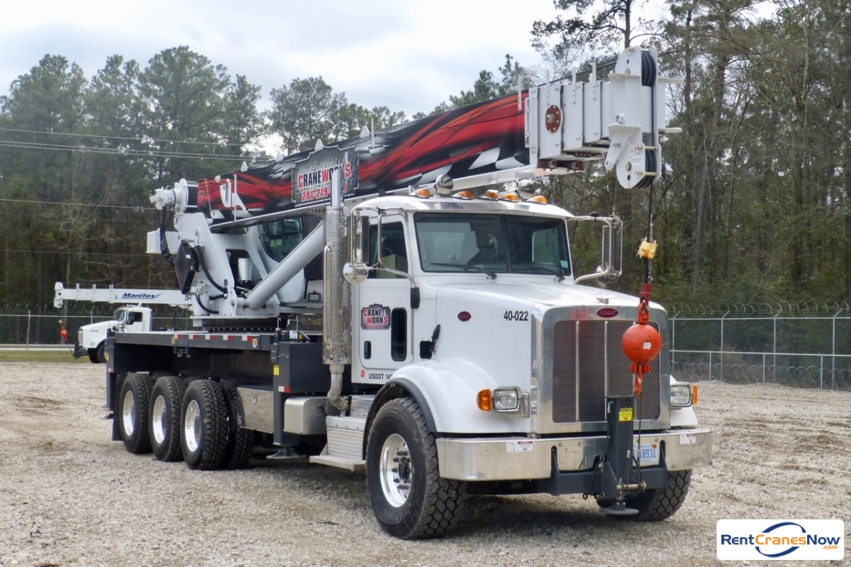 Sold Manitex 40124S boom truck mounted to 2014 Peterbilt 367 chassis