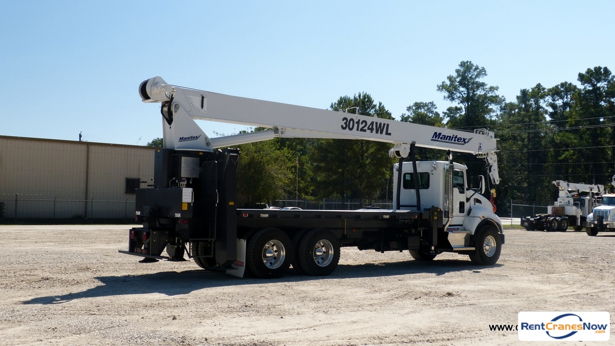 Manitex 124WL mounted to 2016 Kenworth T440 chassis Crane for Rent in Houston Texas on CraneNetwork.com