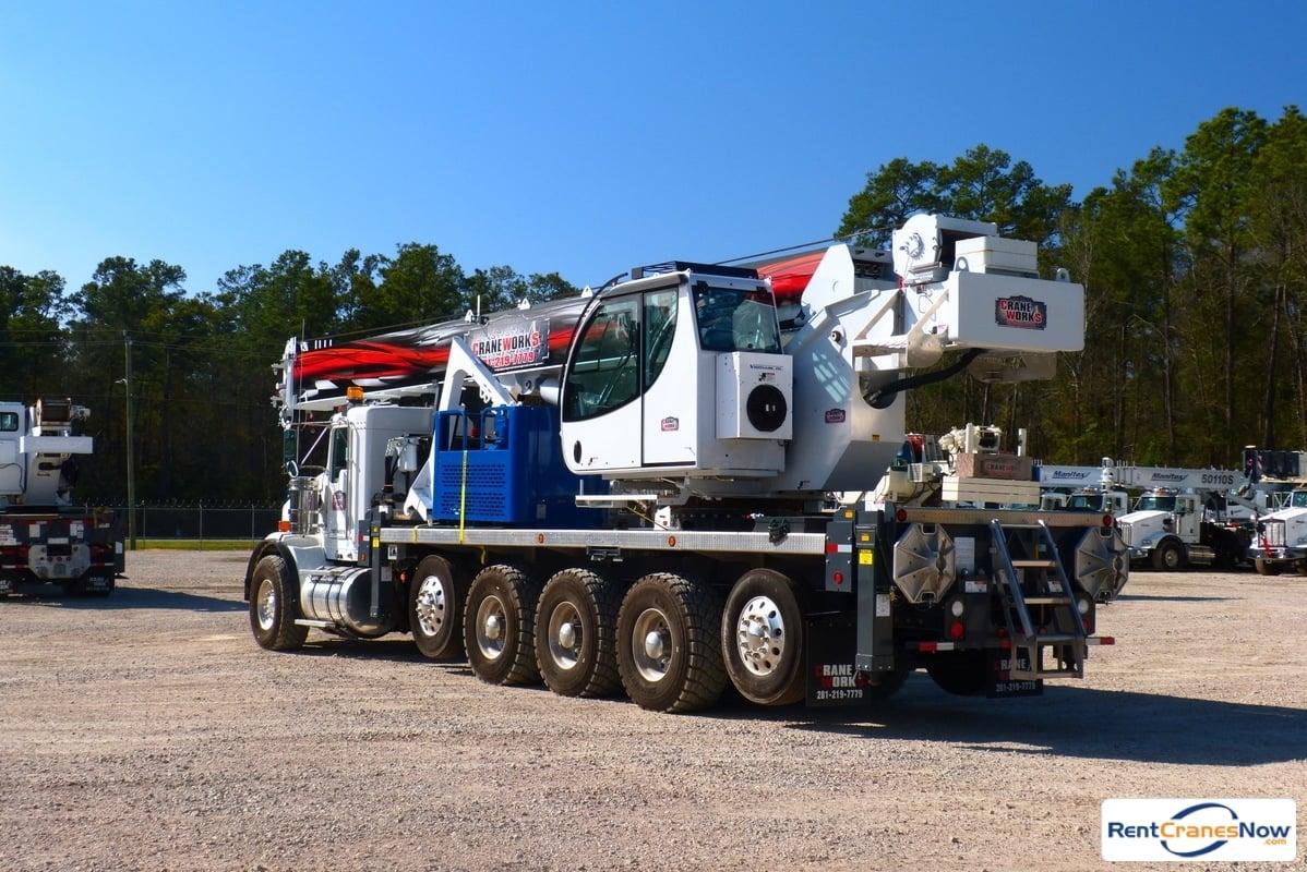 Manitex 50155S mounted to 2015 Kenworth T800 tri-drve