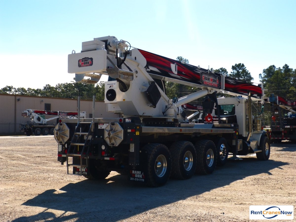Manitex TC50128S mounted to 2015 Kenworth T800 tri-drive chassis Crane for Rent in Brighton Colorado on CraneNetworkcom