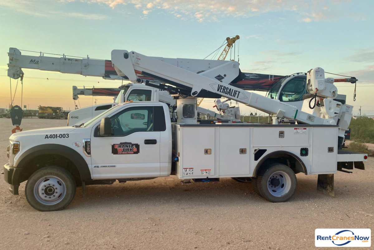 Used 2019 Versalift VST-40-MHI bucket truck on Ford F-550 chassis Crane for Rent in Odessa Texas on CraneNetwork.com