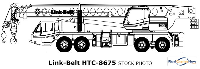 75-Ton Link-Belt HTC-8675 Crane for Rent in Charlotte North Carolina on CraneNetwork.com