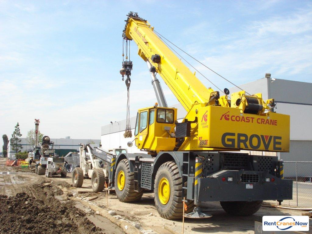 2014 GROVE RT890E ROUGH TERRAIN CRANE Crane for Rent in Buffalo Grove Illinois on CraneNetwork.com
