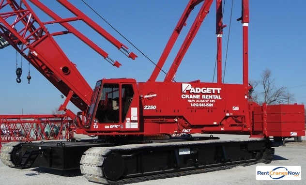 Manitowoc 2250 Crane for Rent in New Albany Indiana on CraneNetworkcom
