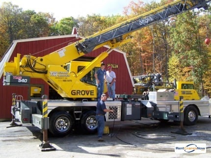 40-TON GROVE TMS540 Crane for Rent in St. Louis Missouri on CraneNetwork.com