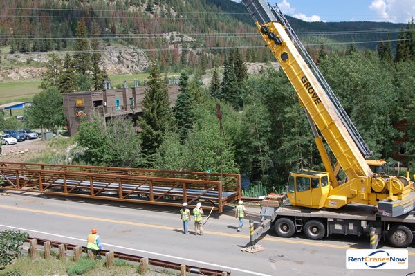 Grove TMS875 Crane for Rent in Breckenridge Colorado on CraneNetwork.com